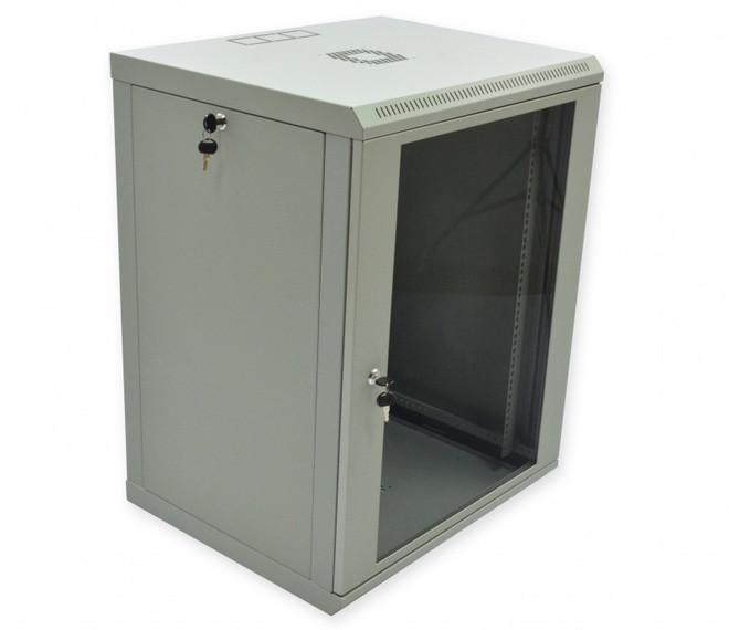 Серверный настенный шкаф 15U, 600х500х743 мм (ш*г*в), эконом, акриловое стекло