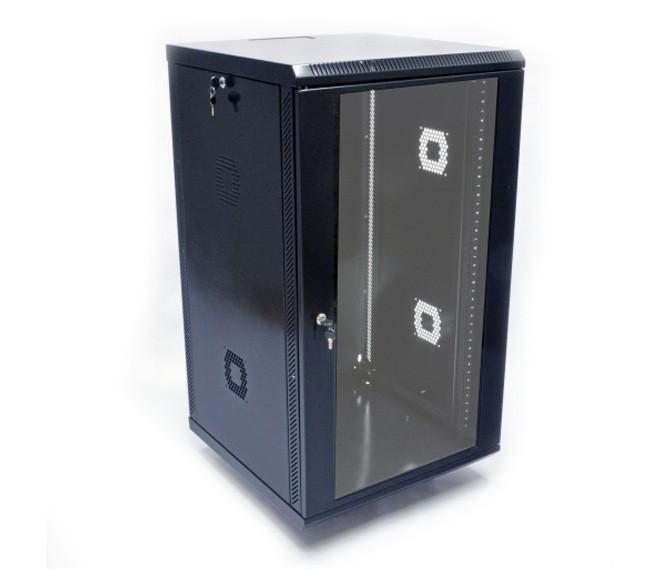 """Серверный шкаф 19"""", 21U, 600х800х1010мм (ш*г*в), акриловое стекло"""