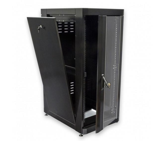 """Шкаф серверный напольный 19"""" 18U, 610х675 мм (Ш*Г), черный"""