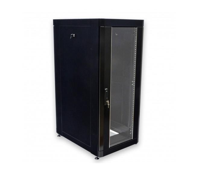 """Шкаф серверный напольный 19"""" 18U, 610х865 мм (Ш*Г), усиленный, черный"""