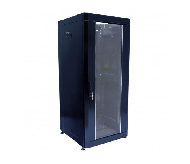 """Шкаф серверный напольный 19"""" 24U, 610х675мм (Ш*Г), усиленный, черный"""