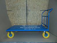 Тележка для рынка 1500х800мм, нагрузка 300кг. колесо 260мм пенополиуретан платформенная