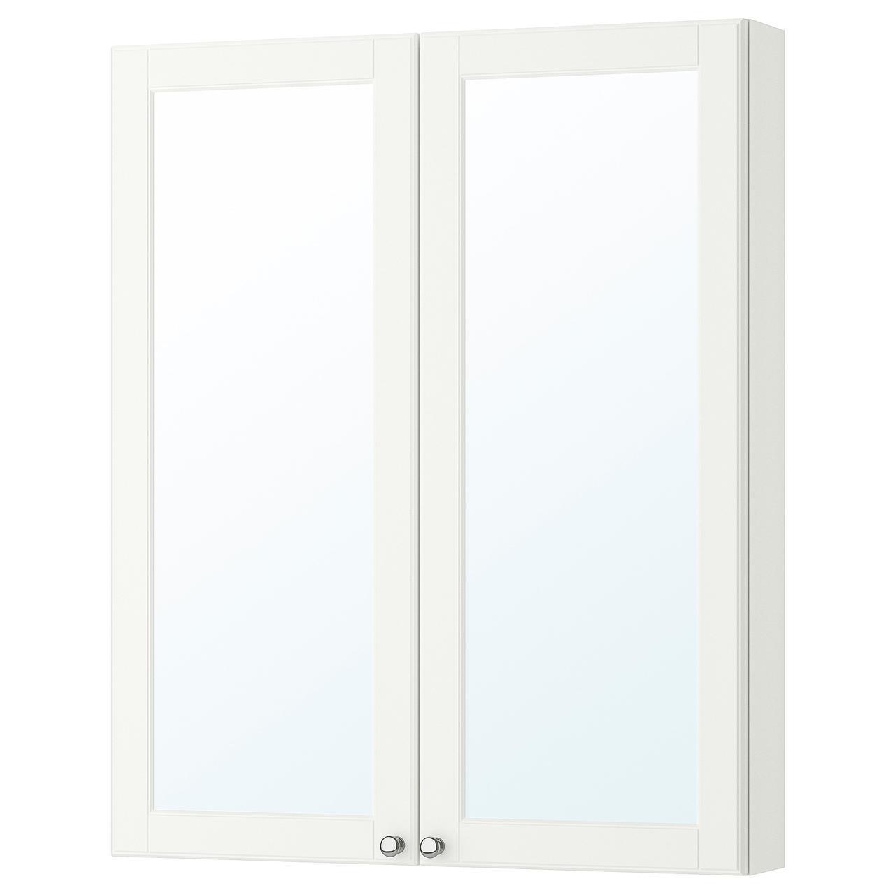 IKEA GODMORGON Шкаф с зеркалом и дверью, Касжöн белый  (003.922.39)