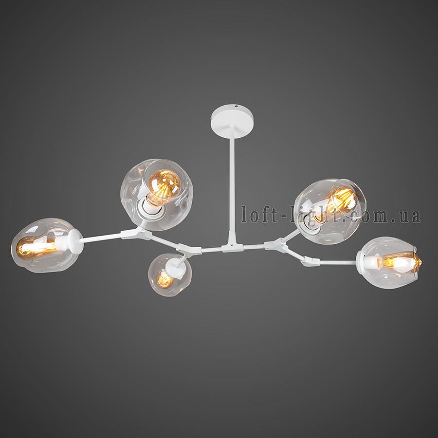Люстра в стиле современный модерн  (  56-LPR0231-5 WH+CL )