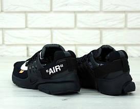Мужские кроссовки Off-White x Nike Air Presto Черные, фото 3