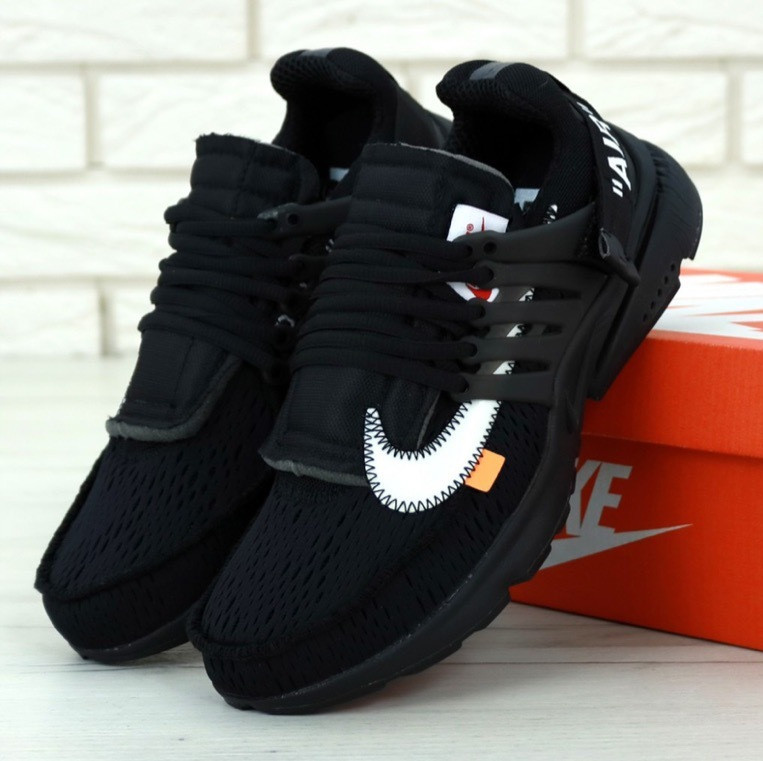 Мужские кроссовки Off-White x Nike Air Presto Черные