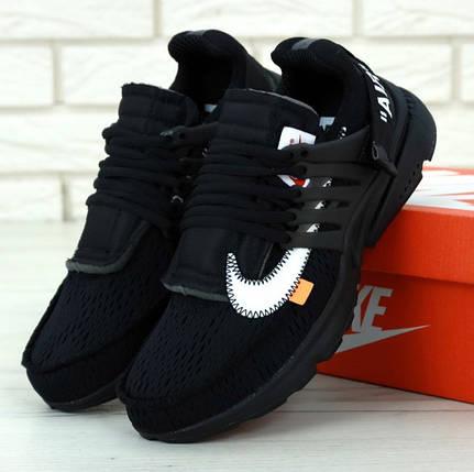 Мужские кроссовки Off-White x Nike Air Presto Черные, фото 2