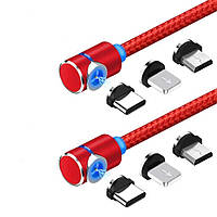 Магнитный кабель ПОВОРОТНЫЙ 360° USB 2.0 для зарядки с Miсro USB