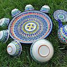 Сервіз з кераміки 10 предметів Узбекистан. Гарний чайний набір ручної роботи., фото 2