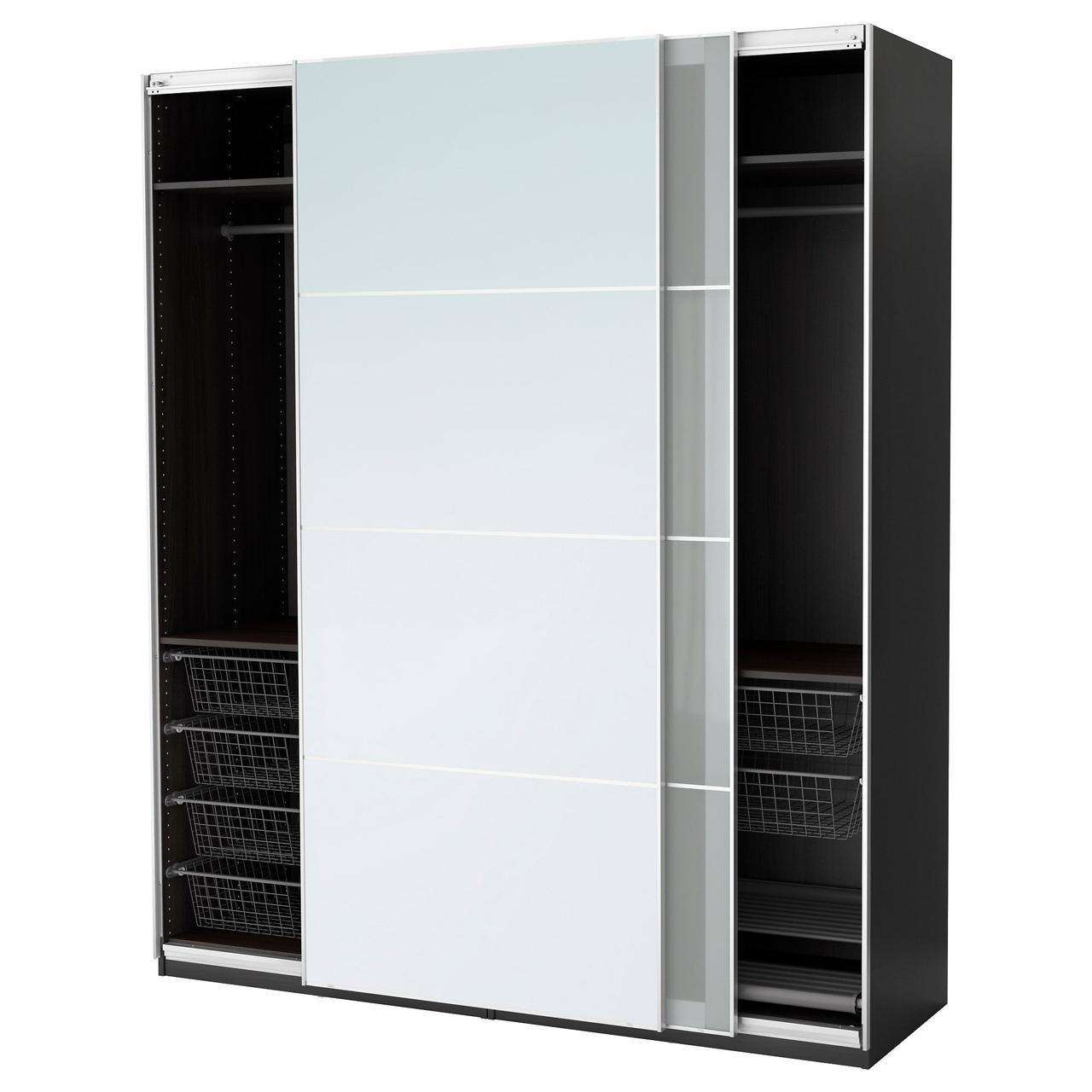 IKEA PAX Шкаф, черно-коричневый, Аули Сэккен  (391.273.62)