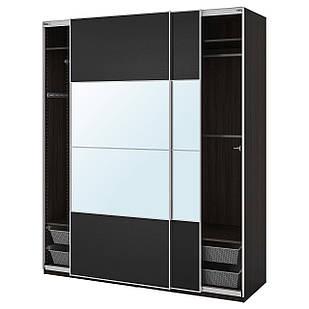 IKEA PAX Шкаф, черно-коричневый, Аули Ильсенг  (392.190.69)