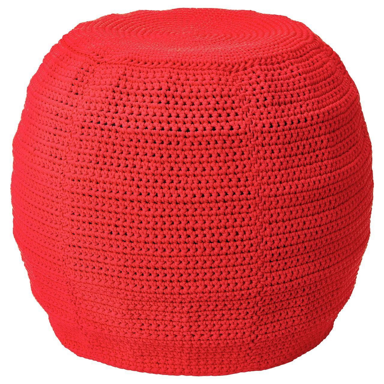 IKEA OTTERON/INNERSKAR Пуф, красный  (792.875.65)