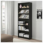 IKEA BILLY/BOTTNA Книжный шкаф с выставочной полкой, черно-коричневый, бежевый  (792.792.21), фото 2