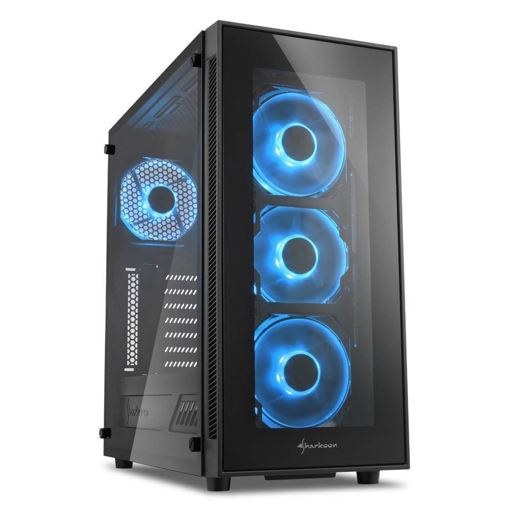 Корпус Sharkoon TG5 Blue (4044951020584)  Б/У
