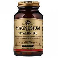Магний и Витамин В-6, Solgar, 250 таблеток