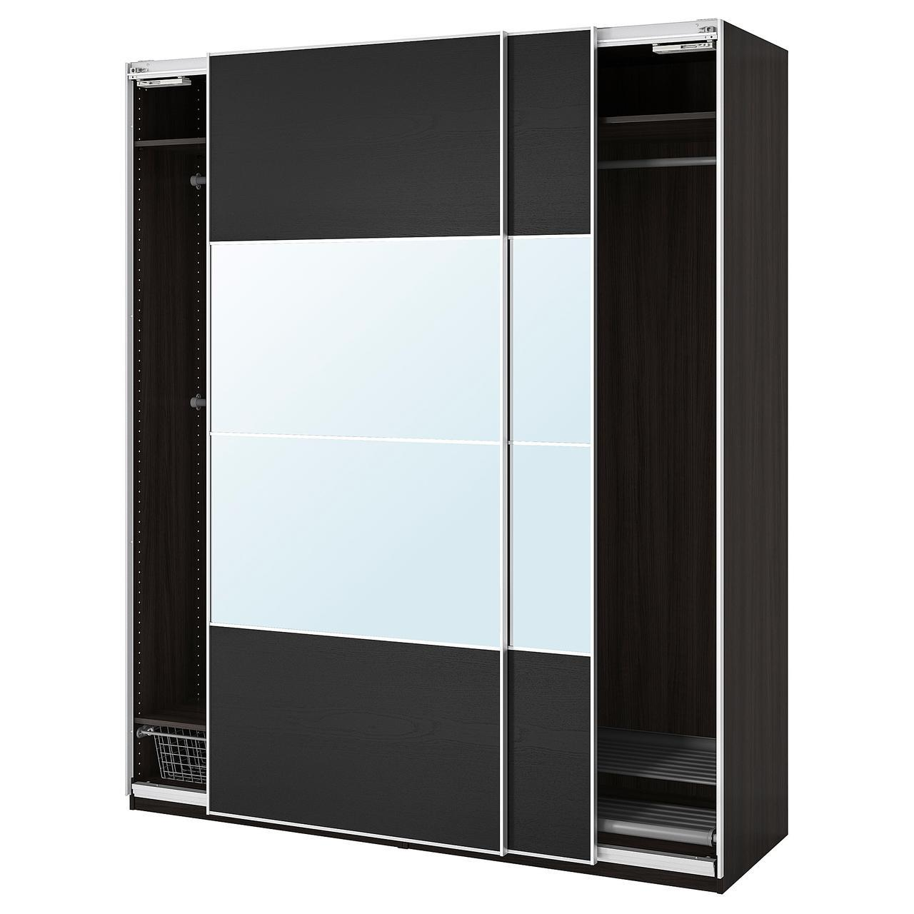 IKEA PAX Шкаф, черно-коричневый (192.221.62)