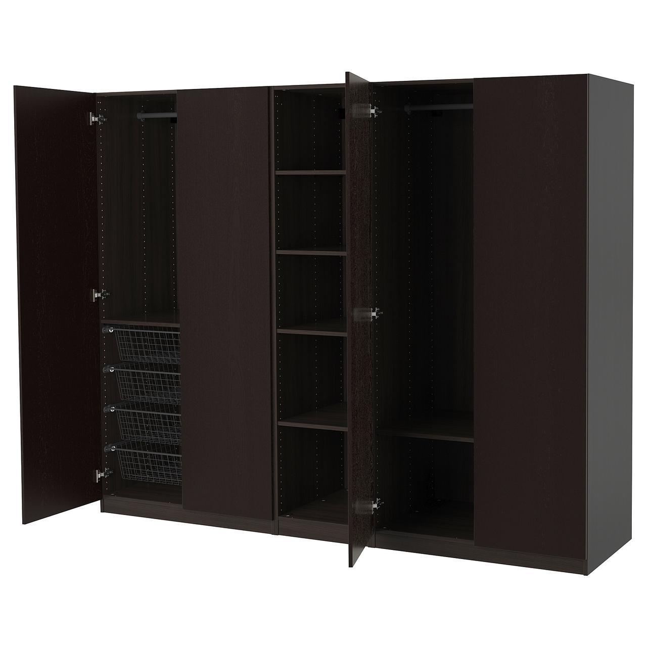 IKEA PAX Шкаф, черно-коричневый (092.681.03)