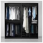 IKEA PAX Шкаф, черно-коричневый, нестрашный черный  (191.275.46), фото 3