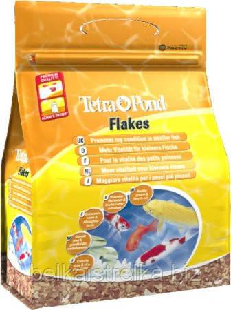 """Корм в хлопьях Tetra Pond Flakes, для маленьких рыб, 10 л - Интернет-магазин """"Belka i strelka"""" в Харькове"""
