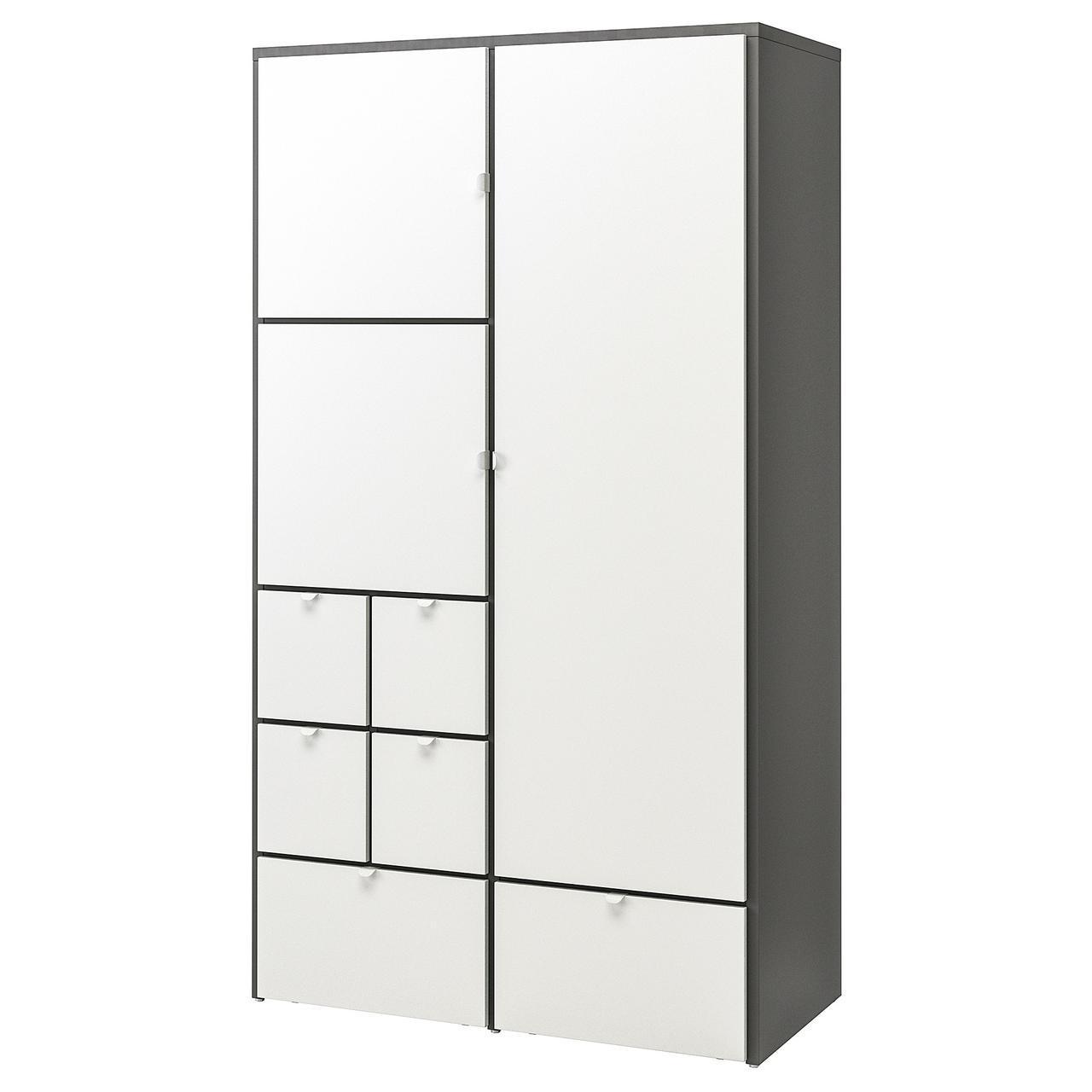 IKEA VISTHUS Шкаф, серый с  белым  (503.476.16)
