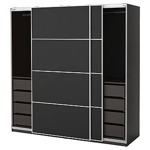 IKEA PAX Шкаф, черно-коричневый,  черно-коричневый  (091.283.39)