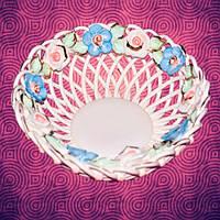 Slav Сeramics Декоративная конфетница плетеная Ажур