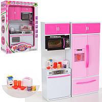 Игровой набор - Мебель Кухня 25х33 см, посуда, продукты, холодильник, звук, свет 6610-9-11