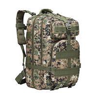Рюкзак тактический городской штурмовой военный  ForTactic на 30-35 л. (зеленый пиксель), фото 1