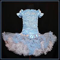 Голубая юбка американка