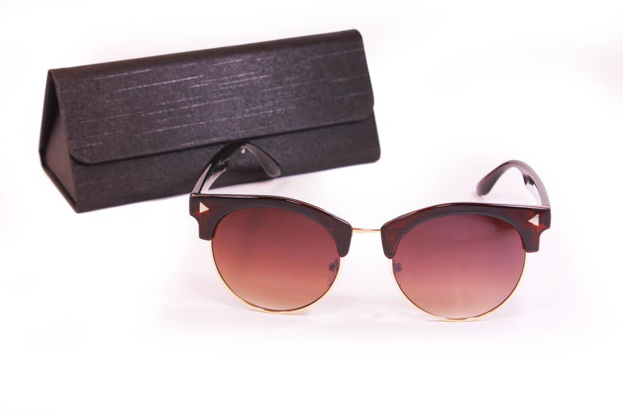 Солнцезащитные очки UV400 с футляром Коричневые (F8007-1)