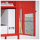 IKEA LIXHULT Шкаф, красный с оранжевым (491.616.09), фото 4
