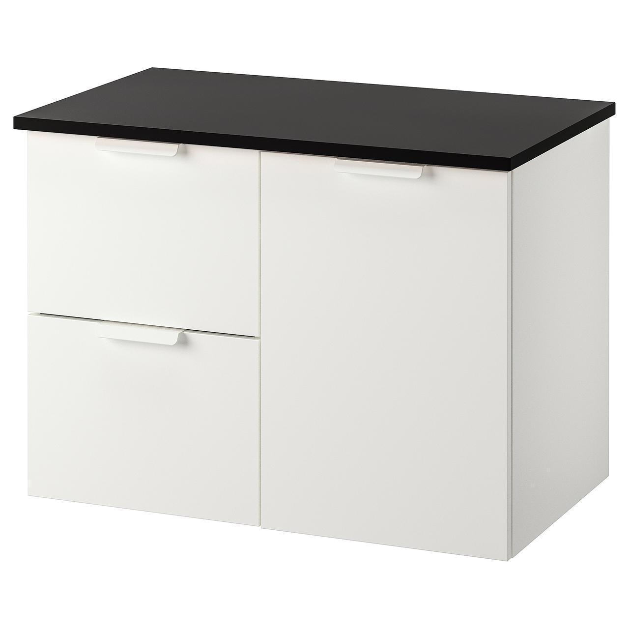 IKEA GODMORGON/TOLKEN Шкаф под умывальник со столешницей, белый  (092.952.48)