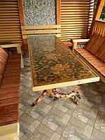 Стіл дерев'яний ручна робота 70х140 см