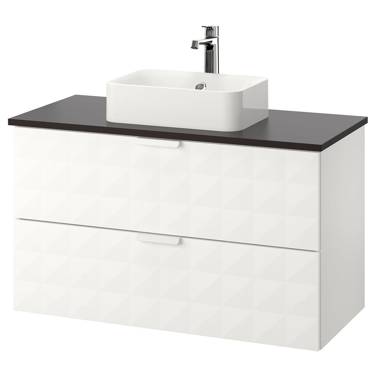 IKEA GODMORGON/TOLKEN/HORVIK Шкаф под умывальник с раковиной белый (192.473.65)