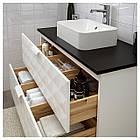 IKEA GODMORGON/TOLKEN/HORVIK Шкаф под умывальник с раковиной белый (192.473.65), фото 2
