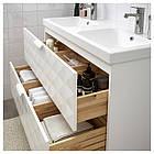 IKEA GODMORGON/ODENSVIK Шкаф под умывальник с раковиной, белый  (992.473.85), фото 2