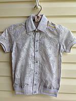 Качественная рубашка для мальчиков с коротким рукавом  Fashion