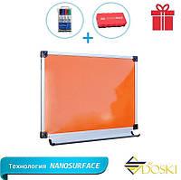 Доска цветная 100х70 см магнитно-маркерная в алюминиевом профиле (Doski.biz)
