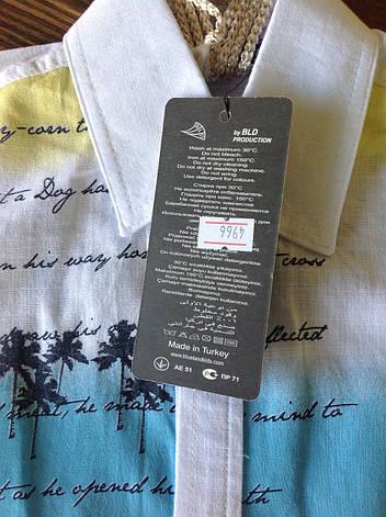 Белая рубашка с короткими рукавами для мальчиков 110,116,128 роста Beach guard, фото 2