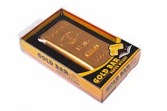 Прижим для бумаг в виде золотого слитка 9х4,5х1 см