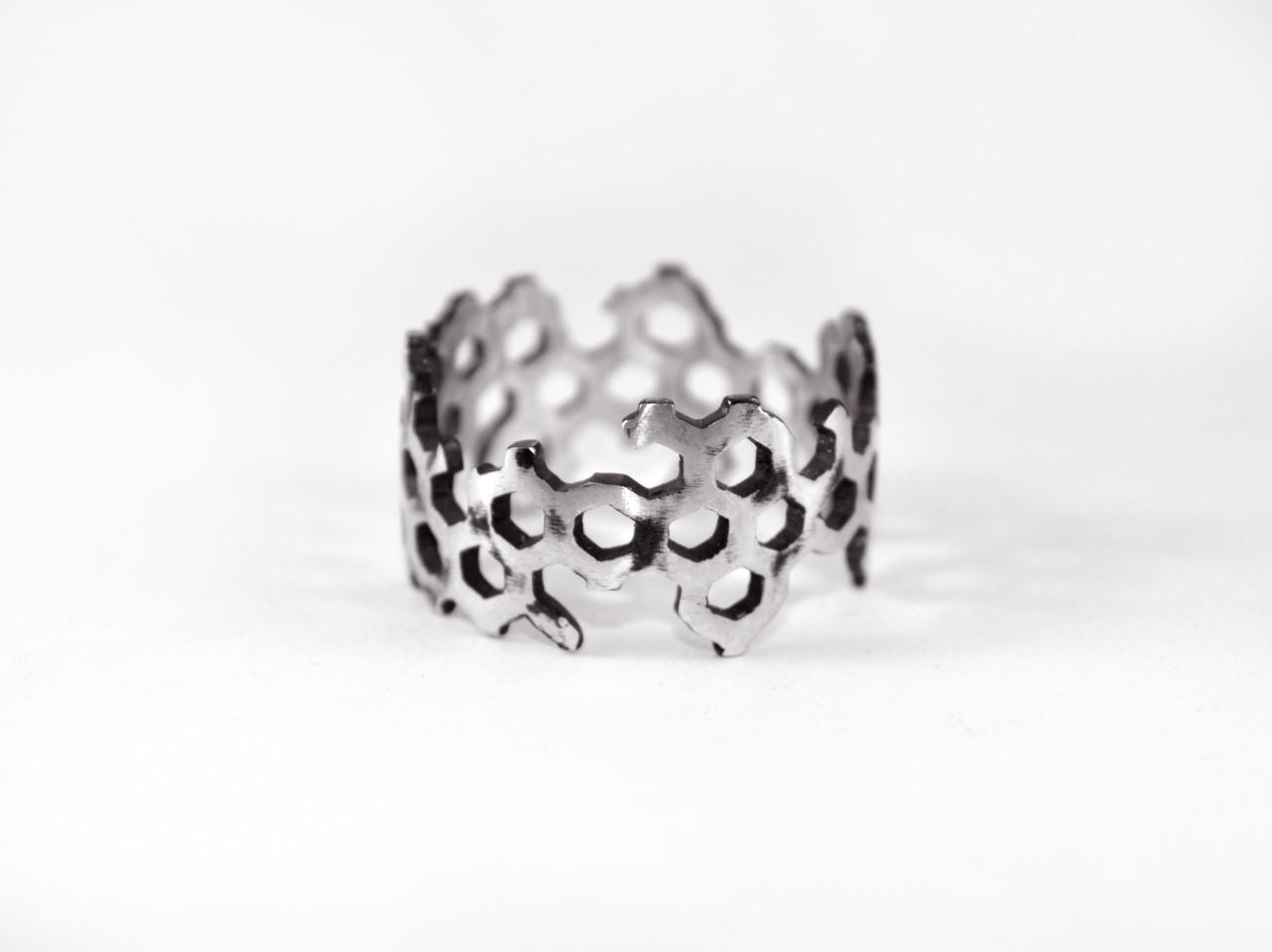 Кольцо из серебра EJ Structure Размер 18.5