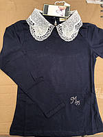 Трикотажные нарядные кофты для девочек с кружевом Many Many,разм 7-15
