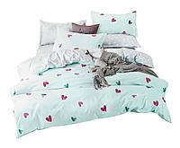 Комплект постельного белья Хлопковый Молодежный 018 Luna Home 9378 Синий, Розовый, Зеленый