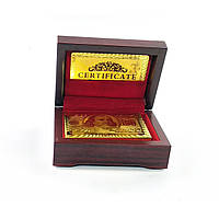Карты игральные пластиковые Duke Gold Foil в шкатулке 54 листа 87х62 мм (DN32376)