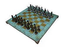 Шахматы Manopoulos Греческая мифология в деревянном футляре 36х36 см 5 кг Бирюзовый (S4TIR)