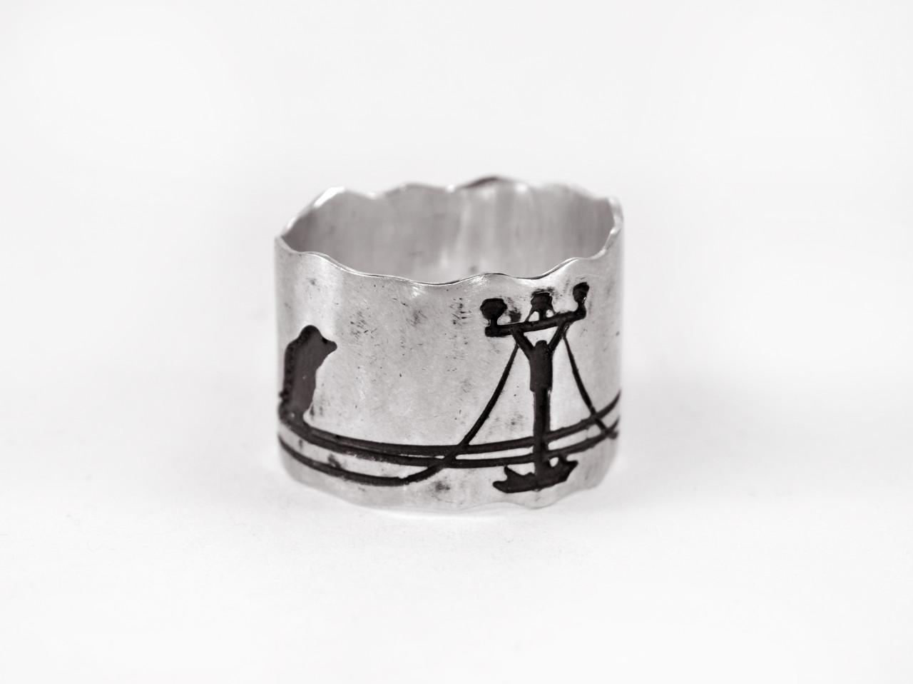 Кольцо из серебра EJ Birds Размер 18