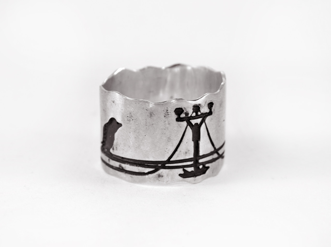 Кольцо из серебра EJ Birds Размер 15.5