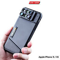 Чехол для iPhone X Rock Space Lens Kit (с линзами для камеры)