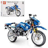 Конструктор аналог лего Техник - гоночный мотоцикл на 799деталей,701702