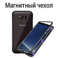 Бампер для Samsung S8 plus металл+стекло